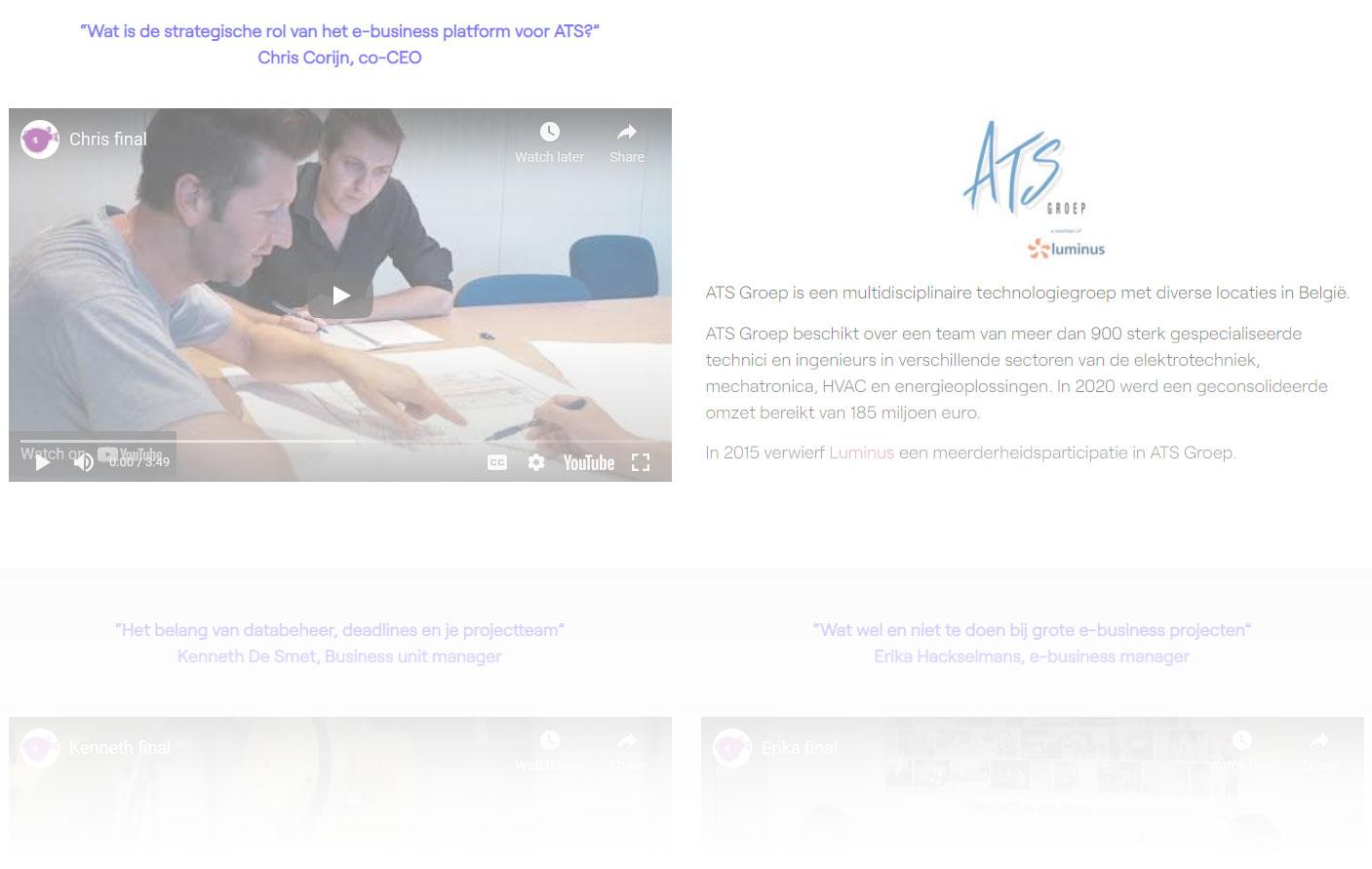 ATS-groep e-business interviews